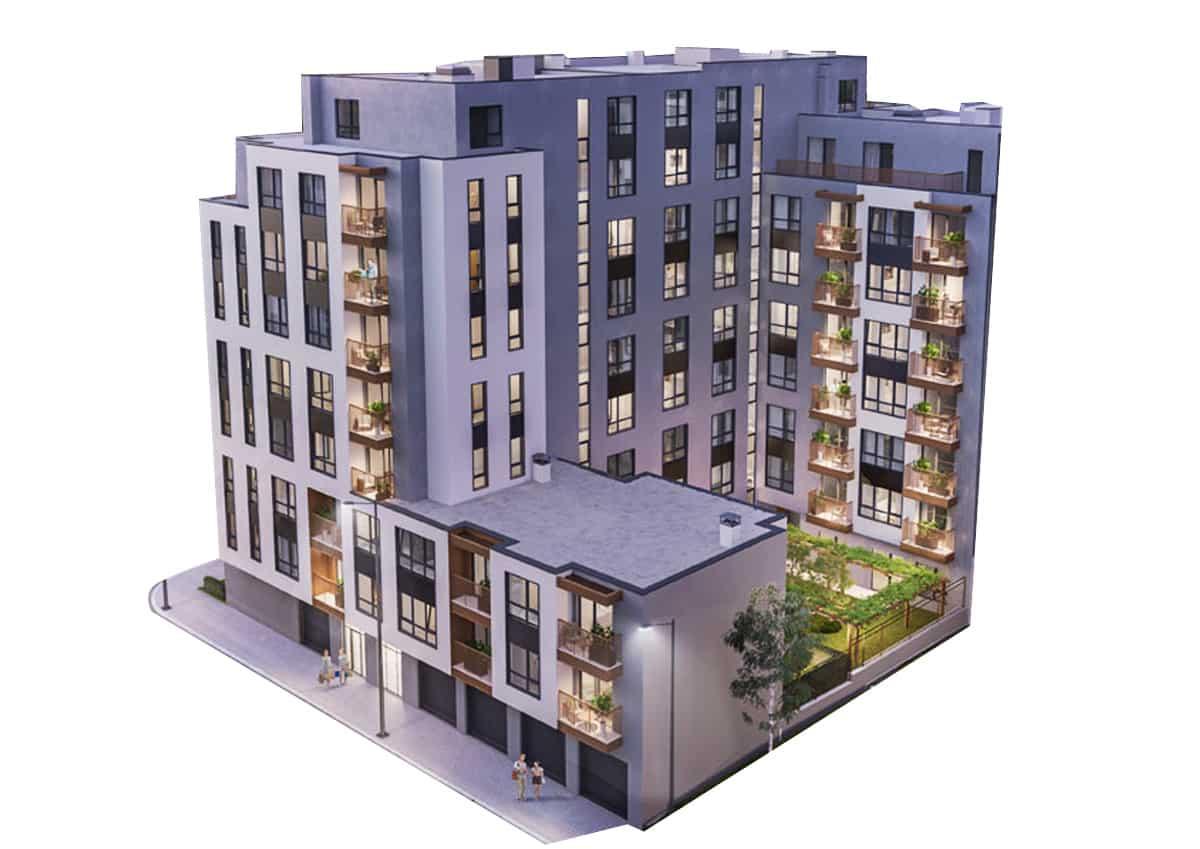 Визуализация Царибродска Сграда 1 и Сграда 2